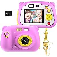 Cámara para Niños con Tarjeta TF,Cámara Digitale Selfie para Niños,Video cámara Infantil con Pantalla de 2 Pulgadas,HD…