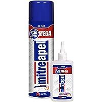 MITREAPEL Super CA Glue (4.5 oz.) with Spray Adhesive Activator (16.9 fl oz.) - Crazy Craft Glue for Wood, Plastic…