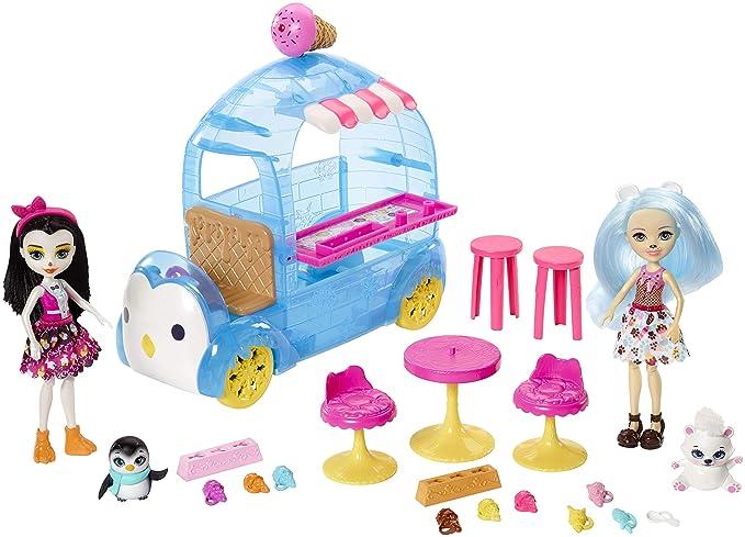 Enchantimals Frozen Treats Truck + Preena Penguin Doll & Jayla Figure