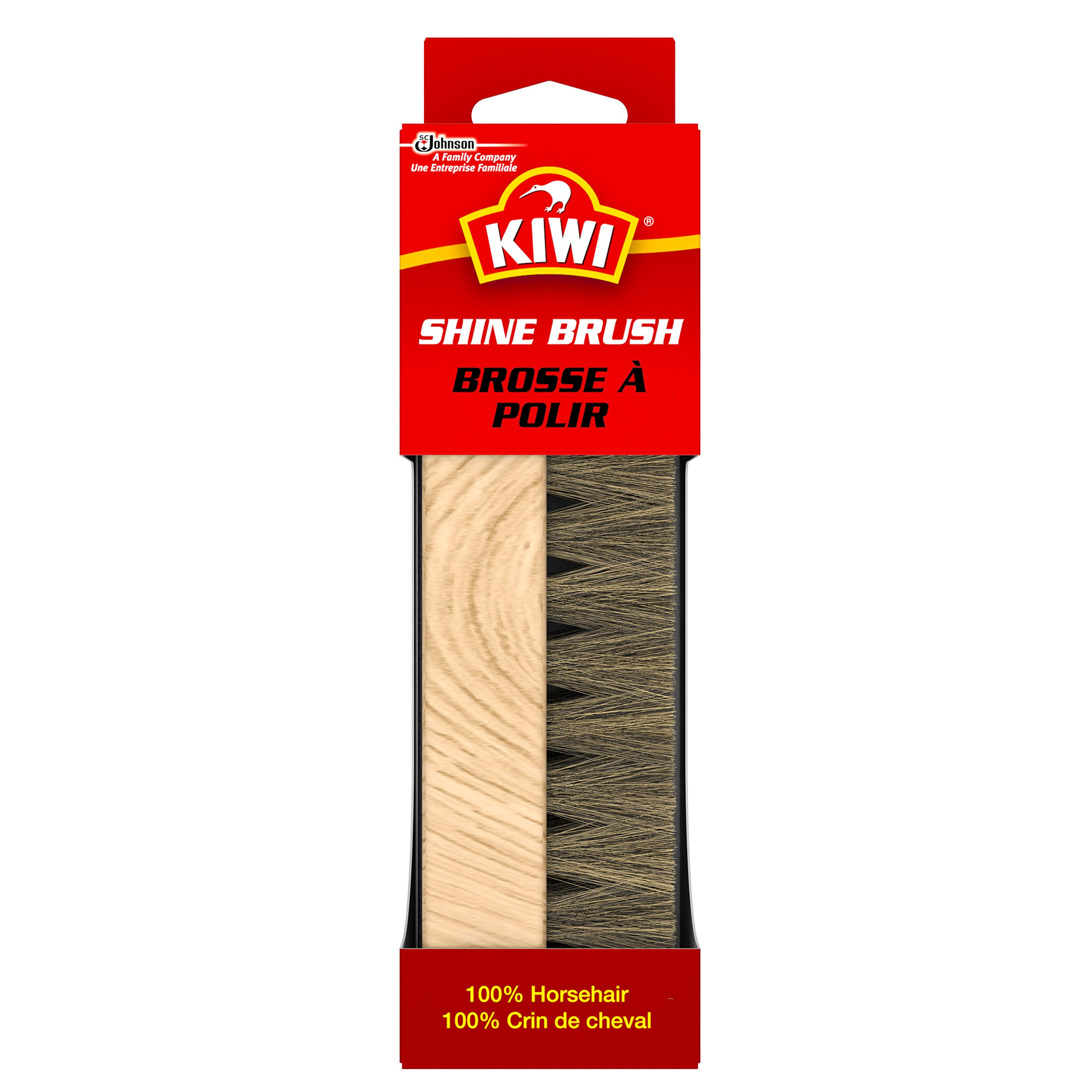 Kiwi care KIWI 100% Horsehair Shine Brush, 1 CT (Pack - 3)