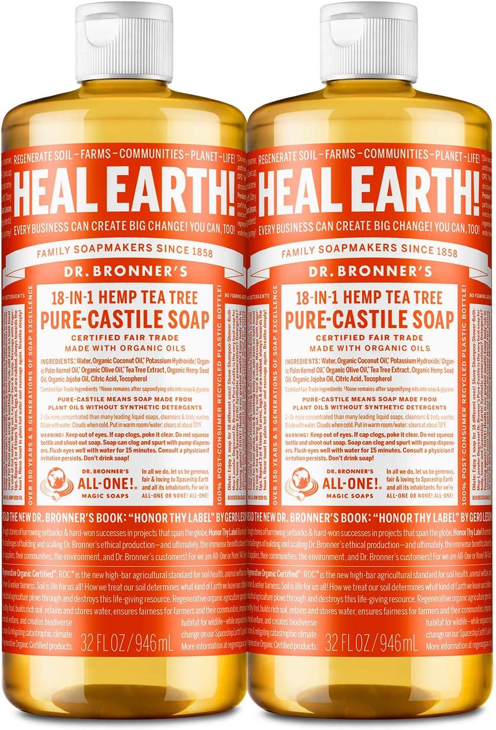 Dr. Bronner's Organic Pure Castile ...