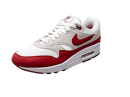 quality design 0f427 43111 Nike Men s Air Max 1 Anniversary, White University RED, ...