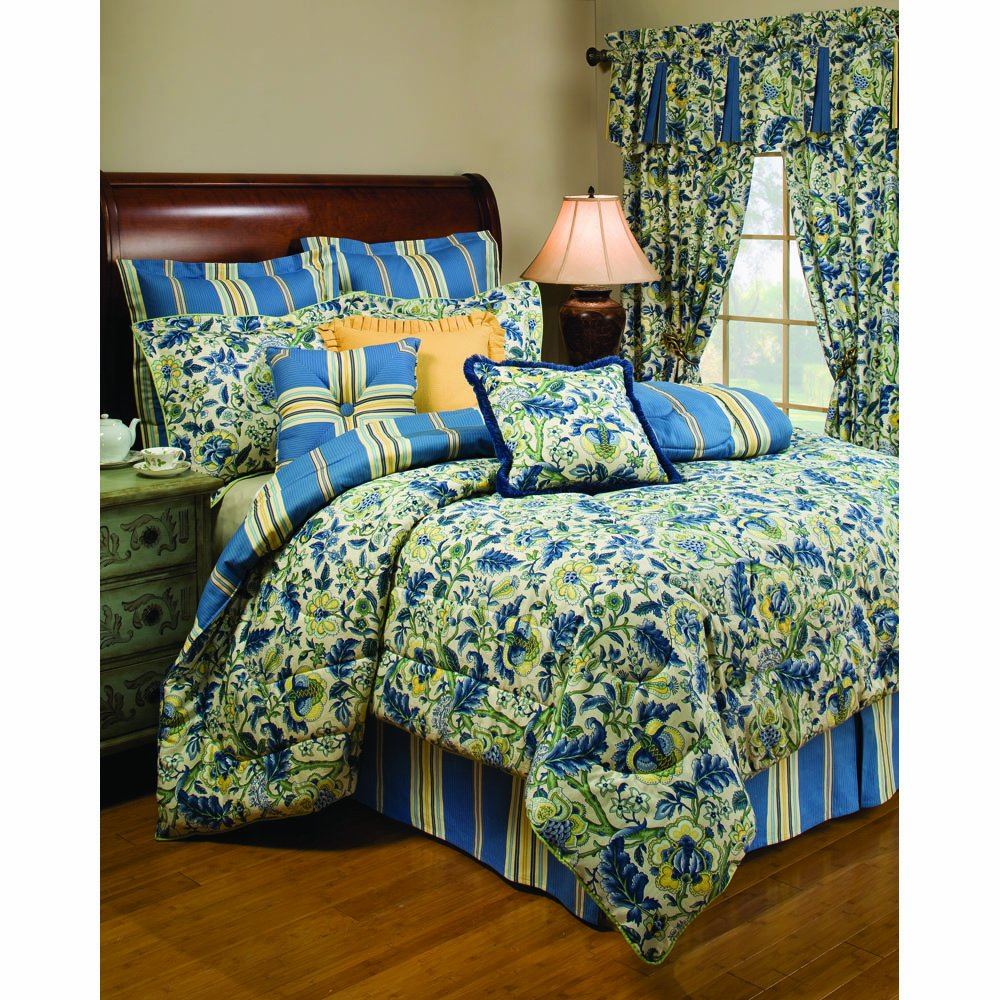amazoncom waverly imperial dress porcelain queen comforter set home u0026 kitchen