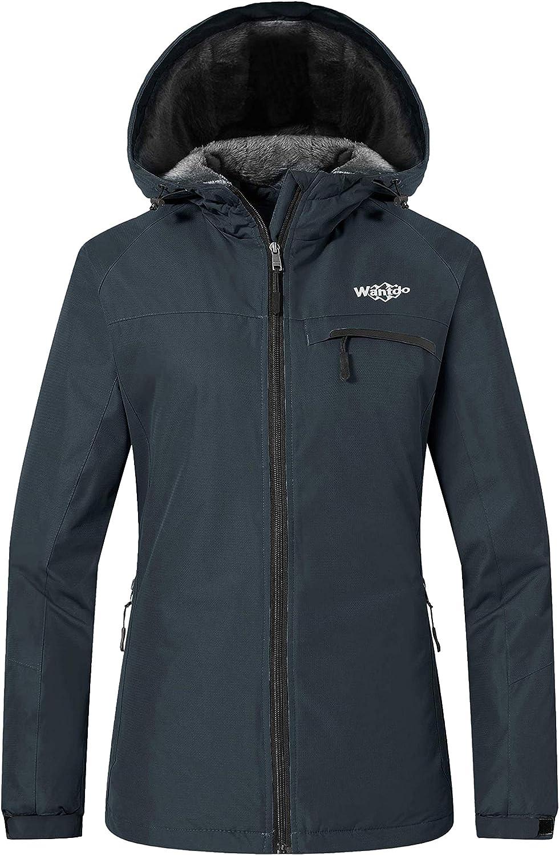 Wantdo Women's Mountain Waterproof Ski Jacket Windproof Snowboarding Jackets Warm Winter Snow Coat Fleece Raincoat