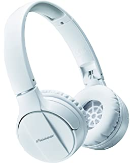 Pioneer Bluetooth Lightweight On Ear Wireless Stereo Headphones, White SE-MJ553BT(W)