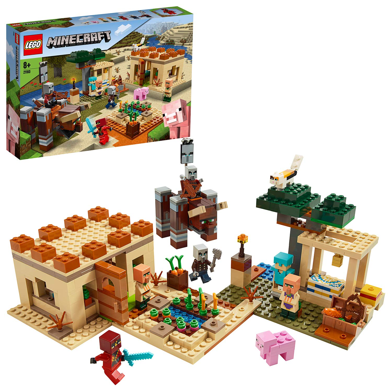 LEGO21160MinecraftTheIllagerRaidVillageBuildingSetwithRavagerandKai,AdventureToysforKids