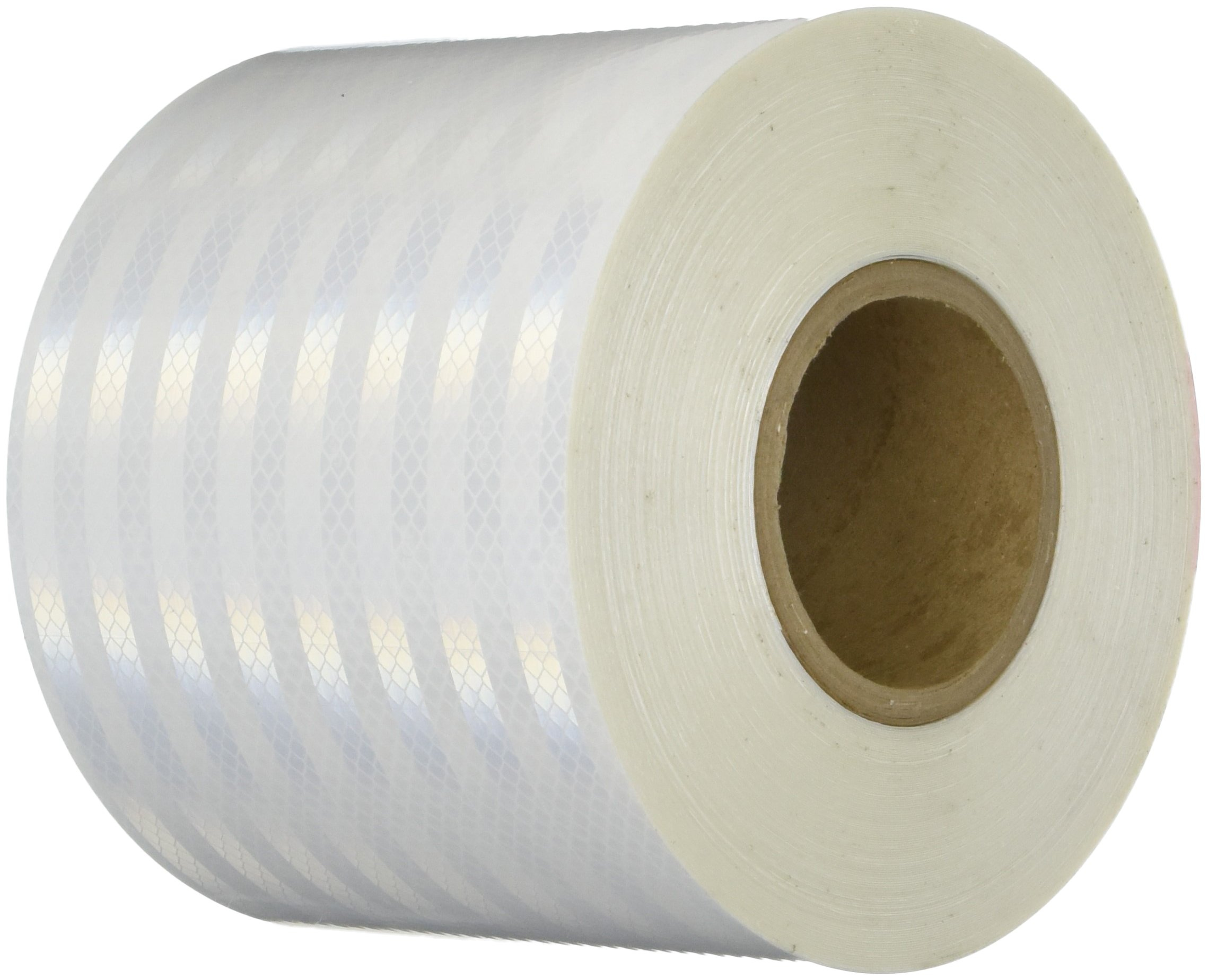 3M 3430 White Micro Prismatic Sheeting Reflective Tape - 6 in. X 150 ft. Non Metalized Adhesive Tape Roll. Safety Tape