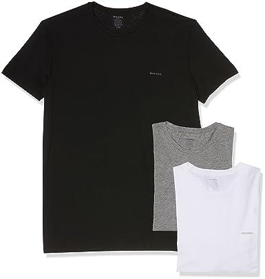 fd46a5abddc8 Diesel T- Shirt d intérieur Homme (Lot de 3)  Amazon.fr  Vêtements ...