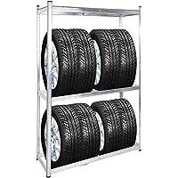 Estantería 8 neumáticos Almacenaje ruedas automóvil coche moto orden taller mecánico garaje casa