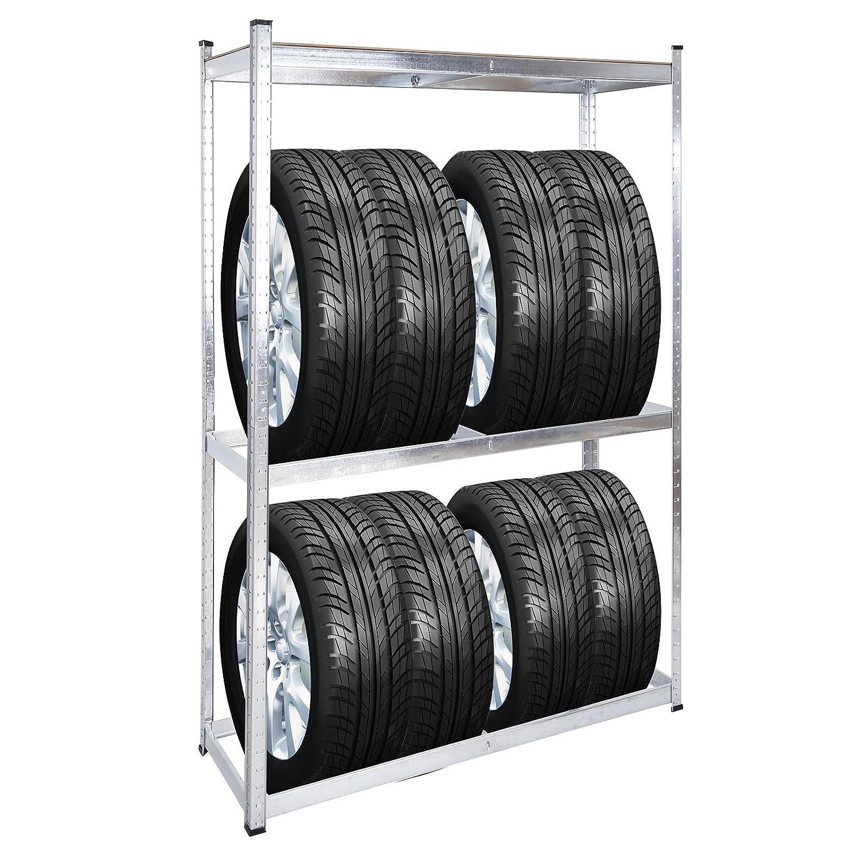Soporte para Neumáticos Ruedas Llantas Trípode Almacenamiento 295mm Aluminio