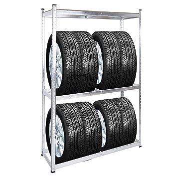 Estantería 8 neumáticos Almacenaje ruedas automóvil coche moto orden taller mecánico garaje casa: Amazon.es: Coche y moto