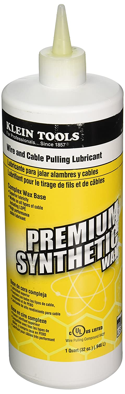 Klein Tools 51010 1-Quart Squeeze Bottle Premium Synthetic Wax Wire ...