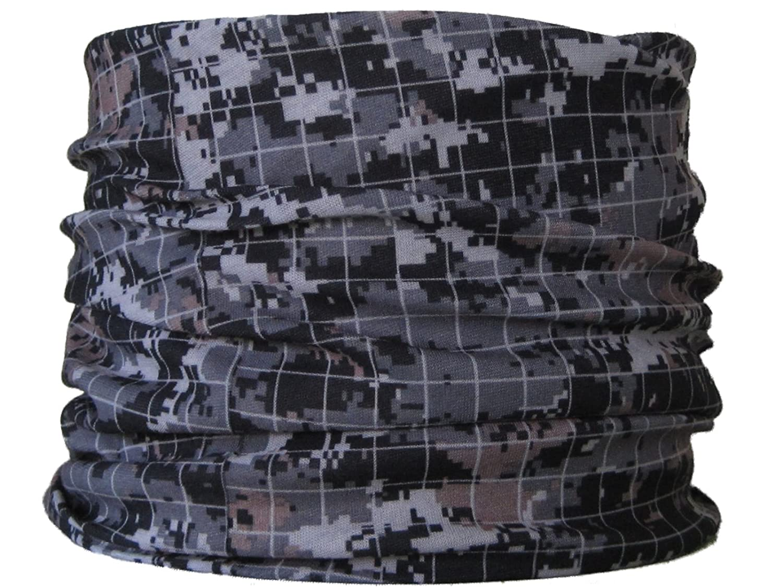 Braga para el cuello, pañuelo de microfibra multifunción, diseño de rejilla gris wendywwoo