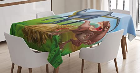 Dinosaur Tablecloth By Ambesonne Different Types Of Dinosaurs