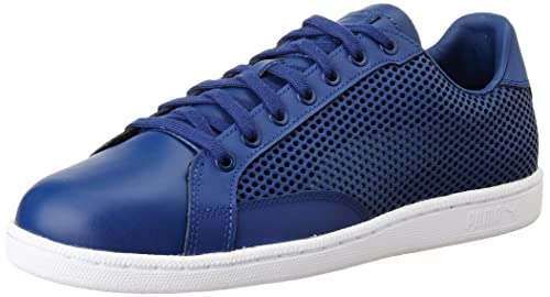 44b60a32fb66 Men s Match 74 Summer Shade Twilight Blue Leather Sneakers - 10 UK India  (44.5