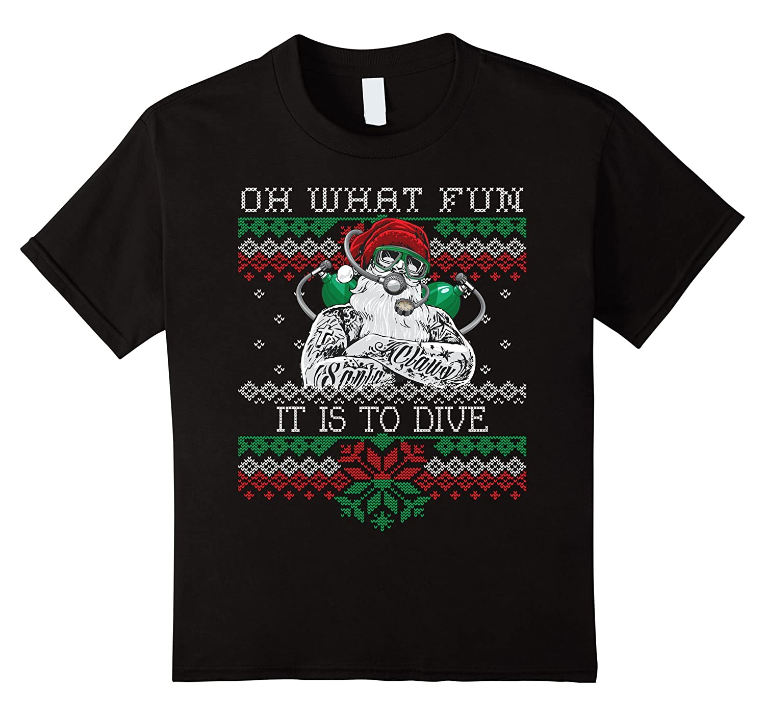 Christmas Santa Diving Medium Asphalt-Awarplus