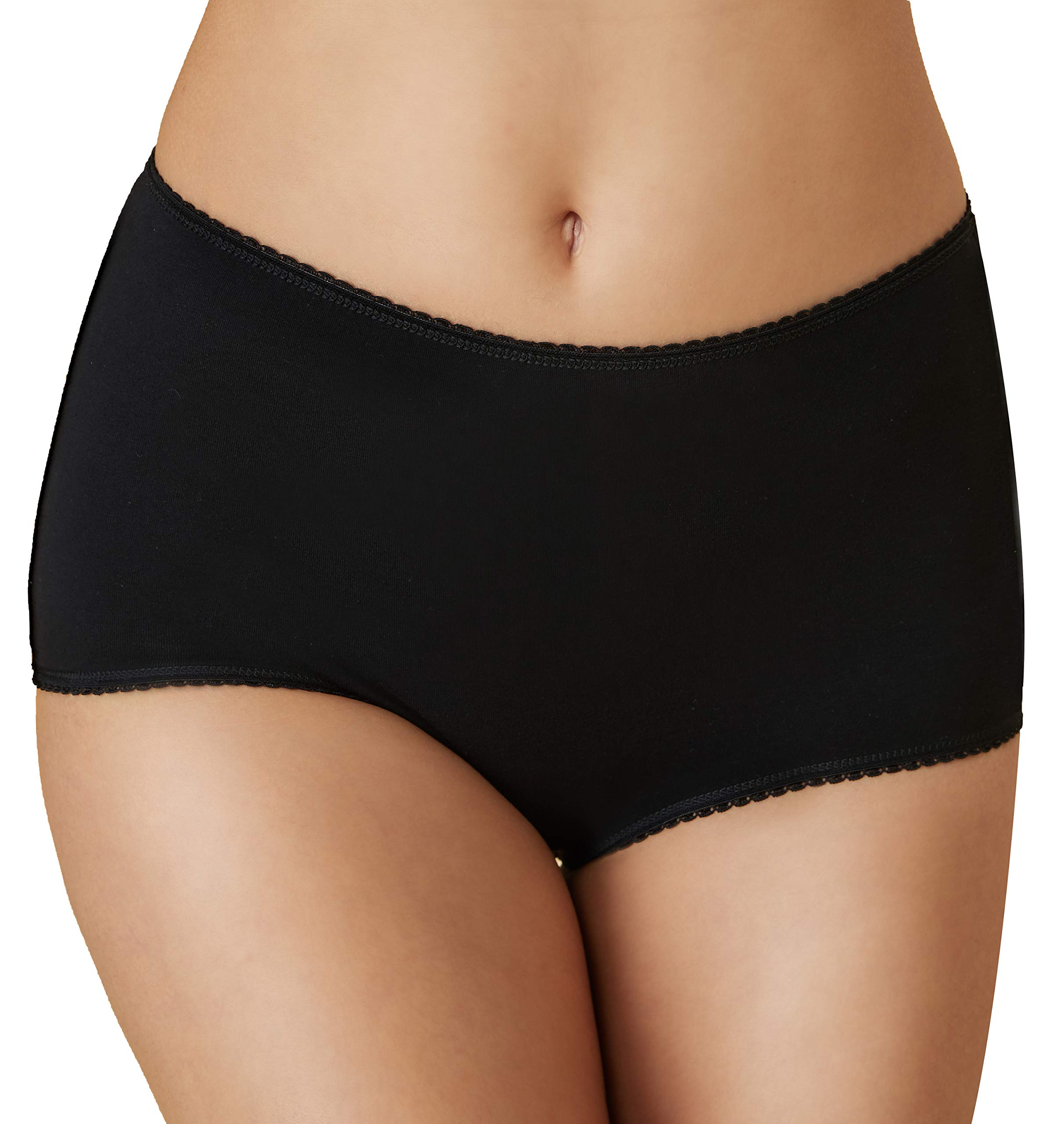 Womens Knicker Underwear Ladies Maxi Briefs Comfort Fit High Waist 10-24 6 Pack