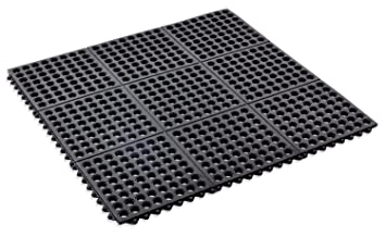 Kempf Rubber Anti Fatigue Drainage Mat, Interlocking For Wet And Dry Areas,  36