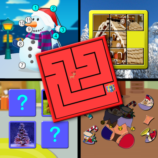Kids Christmas Activites and Puzzles for preschool children
