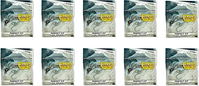 Sideloader Perfect Fit Clear 100 ct Dragon Shield Sleeves Standard 10/% OFF 2+