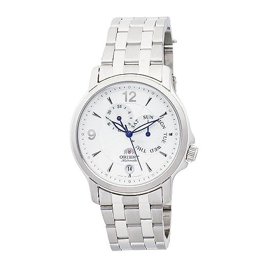 ORIENT CET05001W - Reloj de Pulsera Hombre, Color Plata: Amazon.es: Relojes