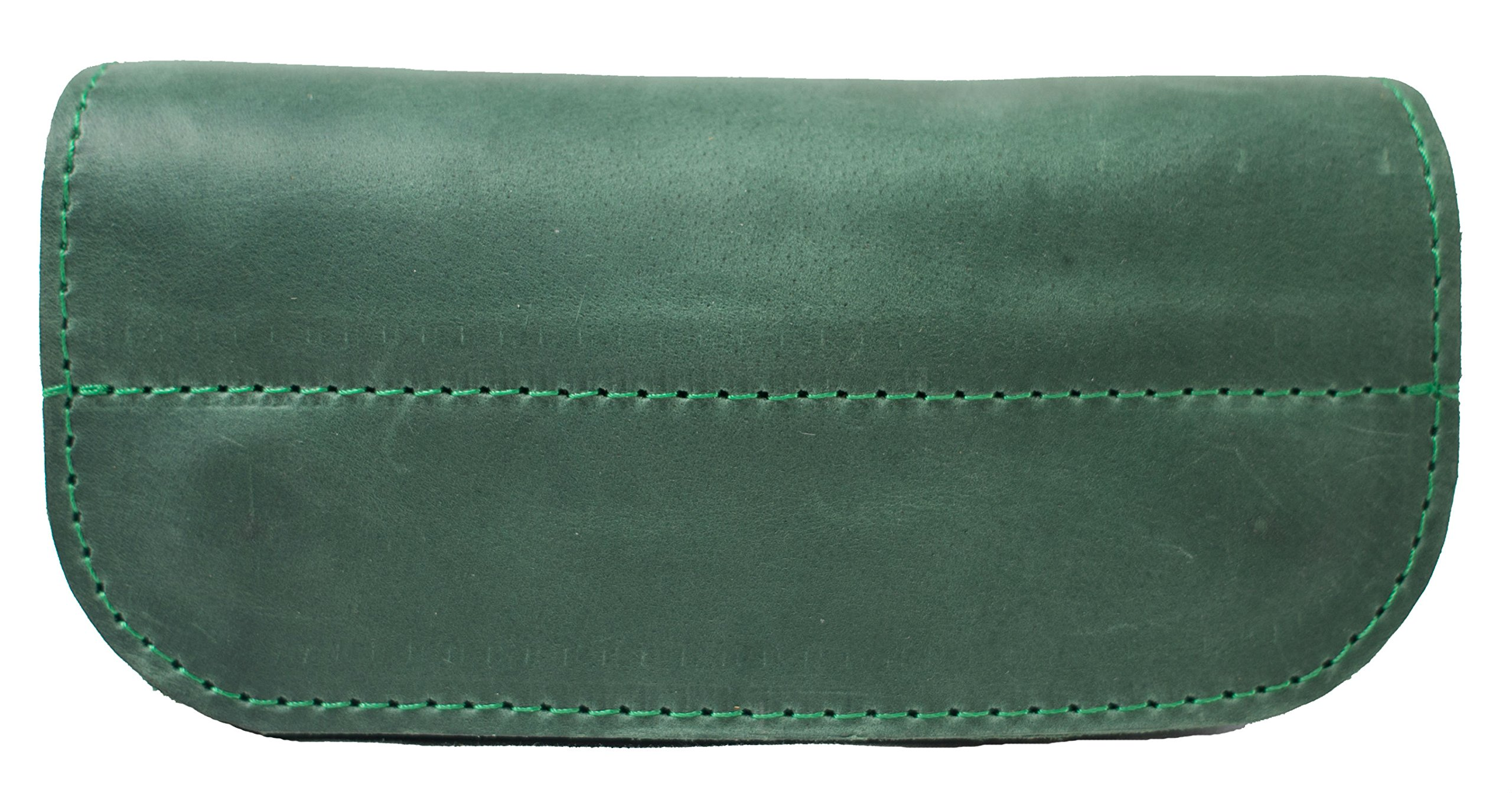 InCarne Leather eyeglasses case soft leather eyeglass holder soft glasses pouch (02001) (Green)