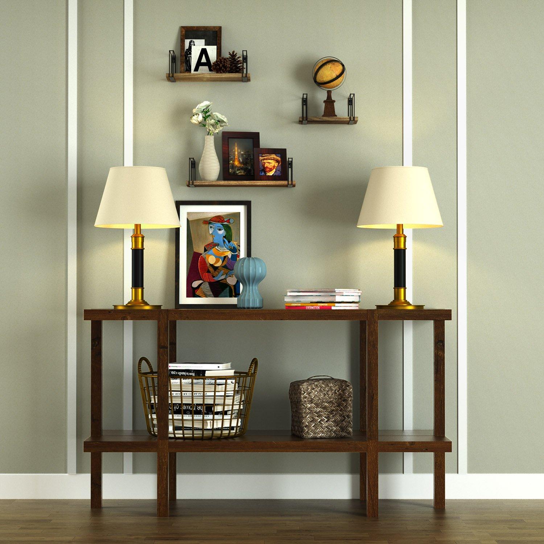 Sriwatana Rustic Floating Shelves Wood Wall Shelves Set