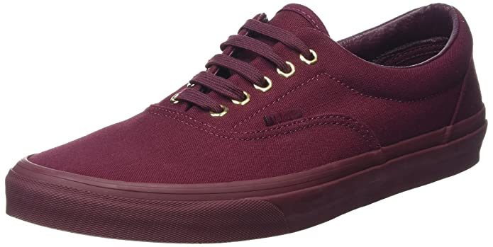 Vans Era Unisex-Erwachsene Low-Top Sneakers Rot (Gold Mono Port Royale)