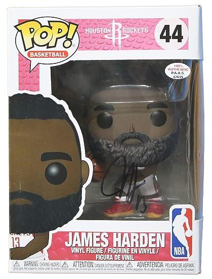 4b282c2a37e0 James Harden Houston Rockets Signed Autographed FUNKO POP  44 Vinyl Figure  PAAS COA at Amazon s Sports Collectibles Store