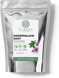 Marshmallow Root Powder 16 oz. (1 lb. Bag), Contains Organic Non-GMO Marshmallow Root in Non-BPA Packaging, Marshmallow Root Powdered, Althaea Officinalis, Marshmallow Herb, Powdered
