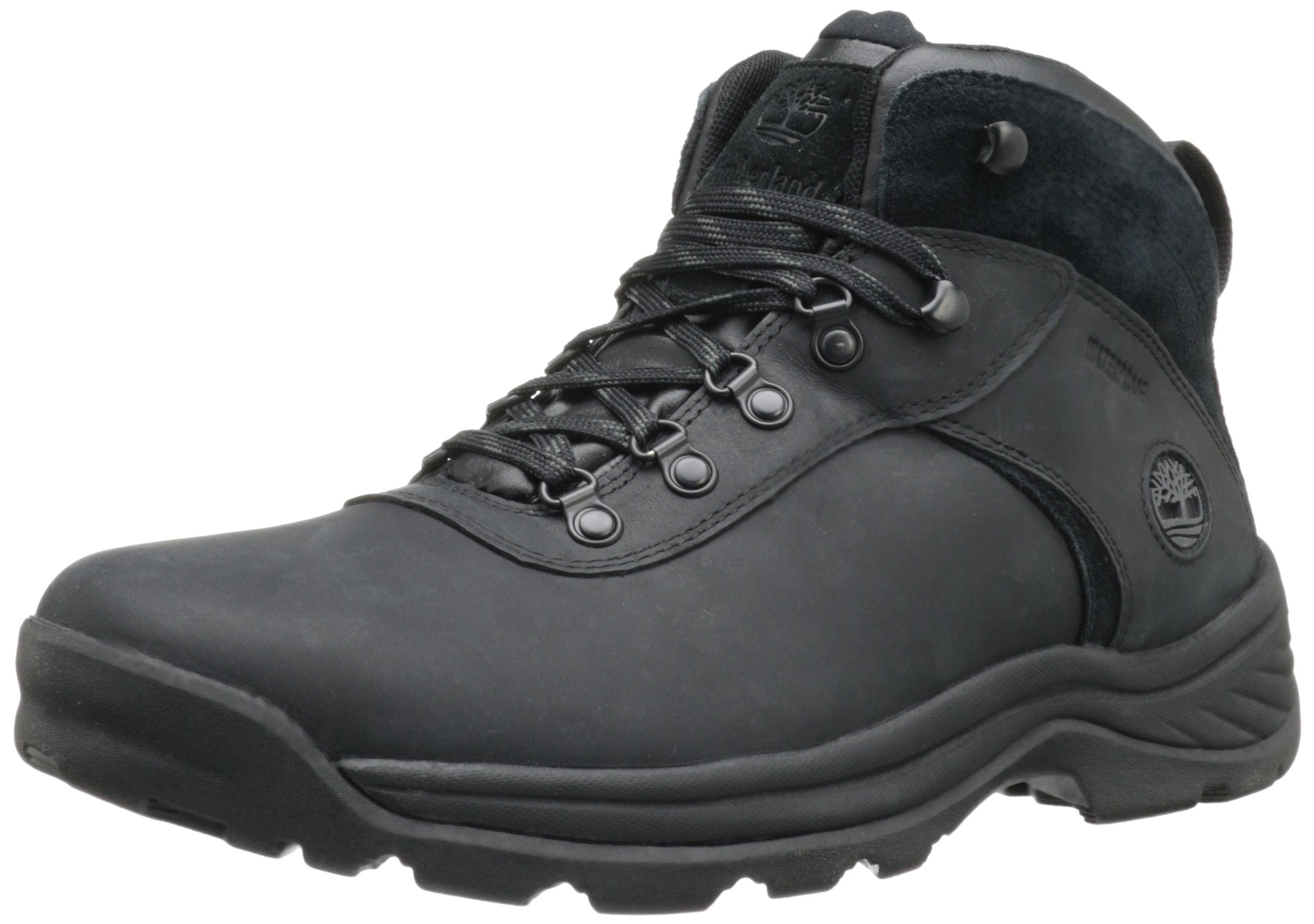 Timberland Men's Flume Waterproof Boot,Black,7 M US