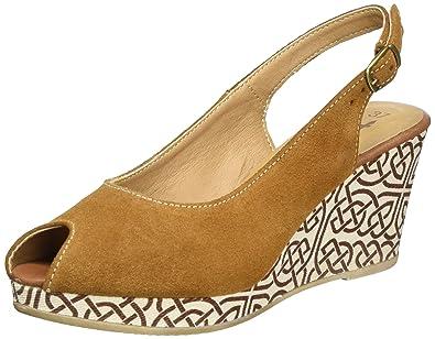 Tamaris Damen Sandalen mit KeilabsatzWedge mit Schnalle