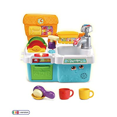 LeapFrog Scrub & Play Toy Sink Toy, Play Kitchen Accessories for Pretend Play with Shape Sorting, Counting and Colours, Toddler Toys for Boys & Girls 2, 3, 4, 5 Year Olds: Toys & Games