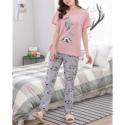 Cute Girls Sloth Serial Chiller Girls Long Cotton Pyjamas