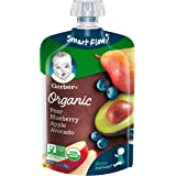 Gerber Organic 2nd Foods Baby Food, Pears, Blueberries, Apples & Avocado, 3.5 oz Pouch