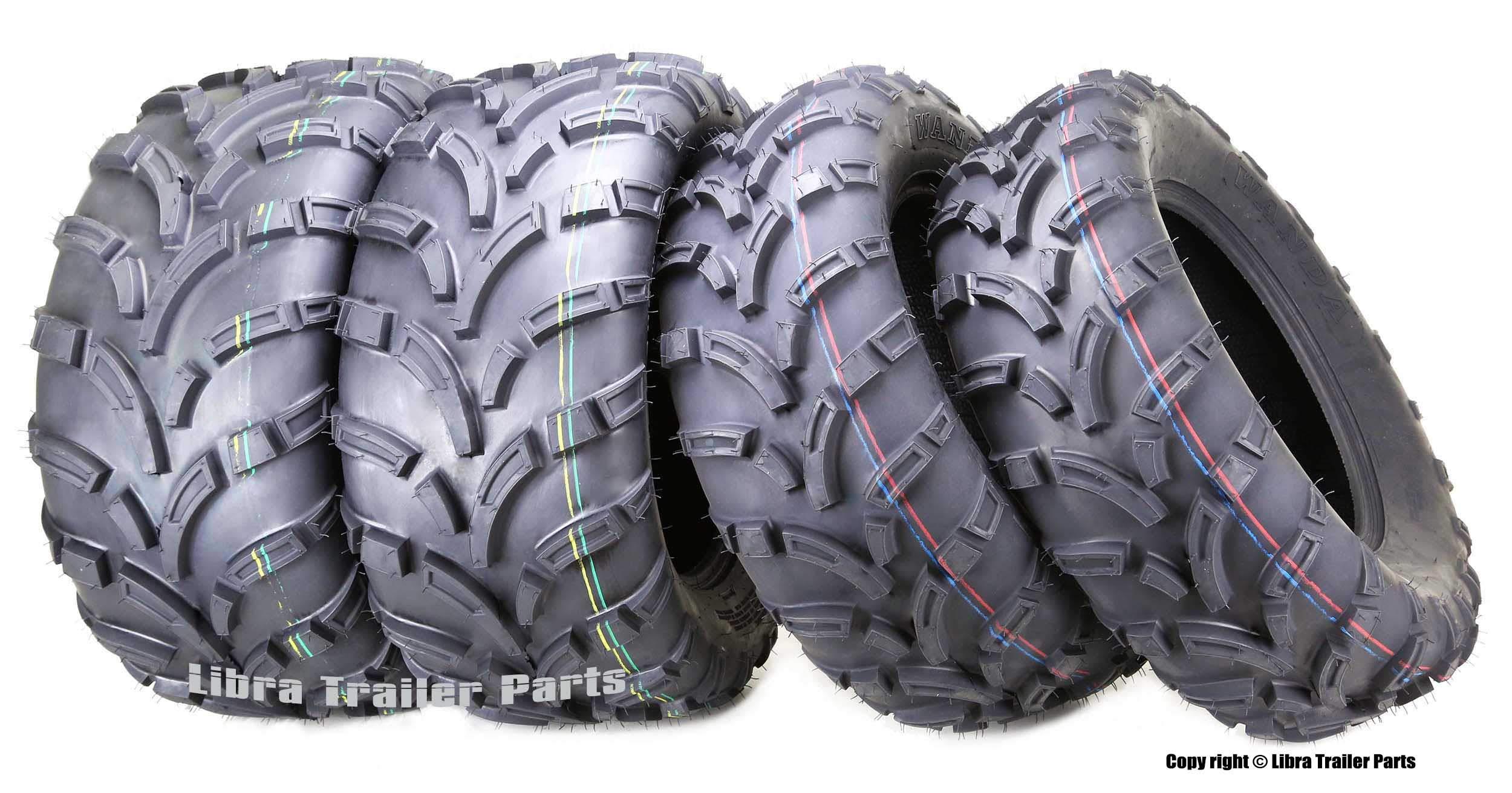 Set of 4 WANDA ATV UTV Tires 26x9-14 Front & 26x11-14 Rear 6PR Mud by WANDA