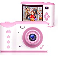 Bright Platinum Kids Camera, 8MP Digital Dual Camera Rechargeable Shockproof Camcorder Camera With 2.8 Inch Touch Screen…