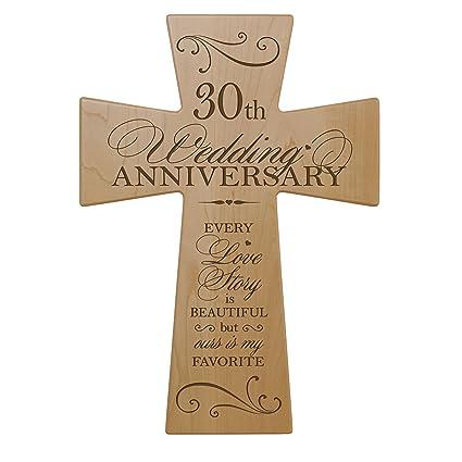 Amazon 30th Wedding Anniversary Maple Wood Wall Cross Gift For