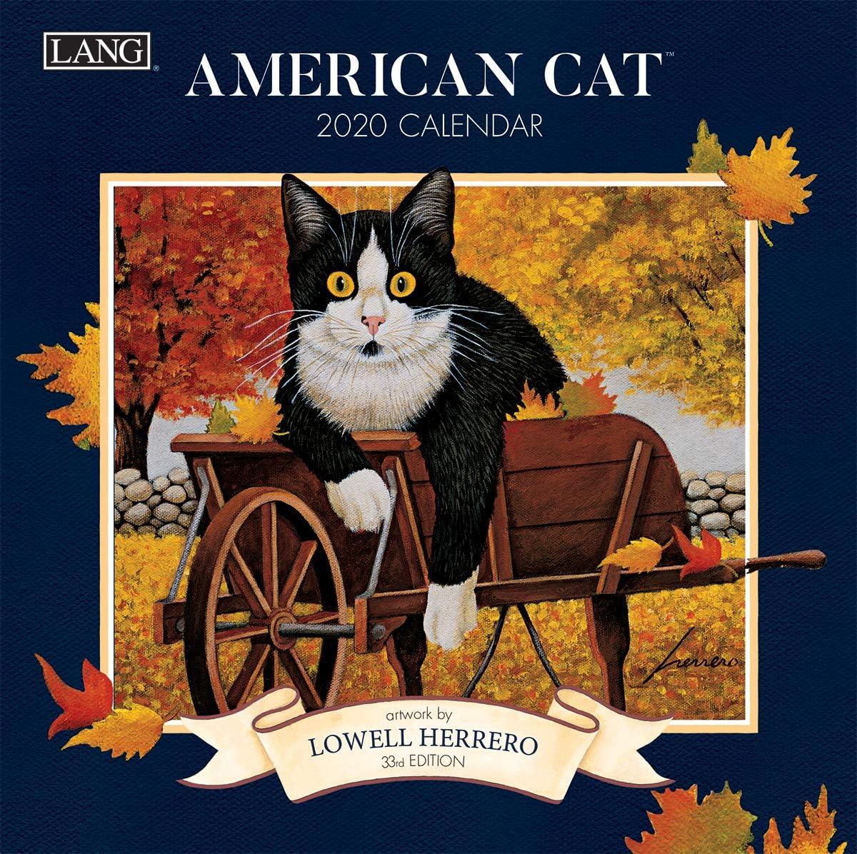 Lang American Cat 2020 Mini Wall Calendar (20991079235)