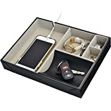 Surpahs Handmade Leatherette Valet Tray - 5 Compartments