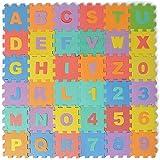 36pc Soft EVA Foam Baby Children Kids Play Mat Alphabet Number Puzzle Jigsaw
