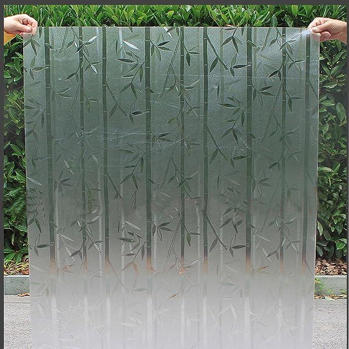 Inovey 45X200Cm PVC Escarchado Impermeable Etiqueta De Cristal Mampara De Ducha Pantalla Cubierta De Cine Decoración - Bambú Polaco Embotado: Amazon.es: Hogar