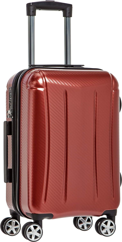 AmazonBasics - Maleta rígida «hardside» Oxford, con ruedas - 55 cm, Rojo