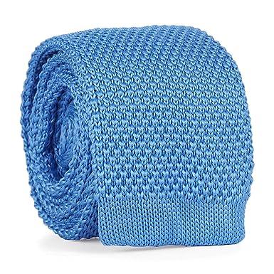 cravateSlim Corbata de Punto Azul Celeste: Amazon.es: Ropa y ...