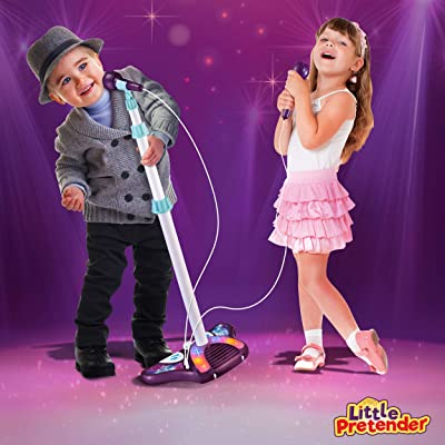 L P Kids Karaoke Machine with 2 Microphones and Adjustable Stand