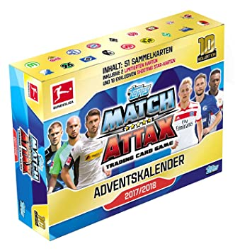 Match Attax Weihnachtskalender.Topps Bl18 Ac1 Advent Calendar Match Attax Bundesliga 2017 2018