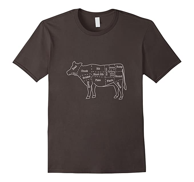 Amazon Mens Cow Butcher Beef Cuts Diagram T Shirt Clothing