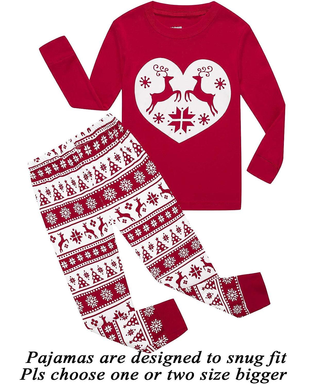 a9818c794ce Top1  Girls Pajamas 100% Cotton Reindeer Toddler Clothes Kids Christmas Pjs  Children Sleepwear