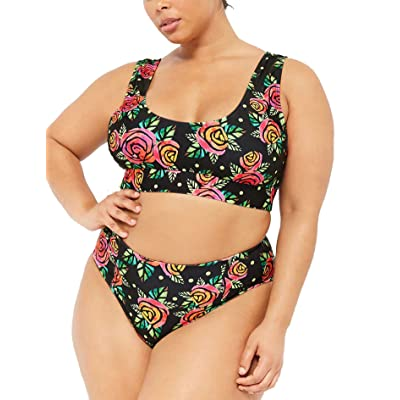 Womens Printed One Piece Plus Size Swimsuits Slimming Control Bathing Suits Bandeau Off Shoulder Swimwear