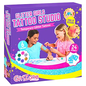 A 4 Temporales Niña De AñosTattoos Para NiñasNiñosRegalo Con Purpurina Brillantina Tatuajes Girlzone 11 Kit 1FKJT3ulc